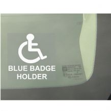 1 x Blue Badge Holder Window Sticker for Car,Van,Truck,Vehicle.Disability,Mobility Self Adhesive